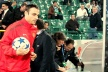 Berbatov refused to speak after the victory in Bursa