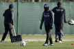 Tevez appeared to workout Mancini gone