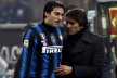 Diego Milito with a groin injury after the match with Cesena