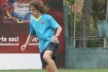 Puyol practicing at full speed