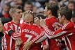 Bayern smashed Hamburg with 6:0, Borussia 2-a loss in 22 matches