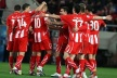 Champion Olympiakos of Greece in football three rounds before the end