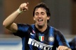 Diego Milito in the group of derby with Inter Milan