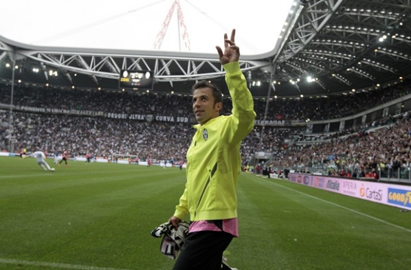 Del Piero said goodbye with a goal against Atalanta, Juve remain unbeaten in Serie A