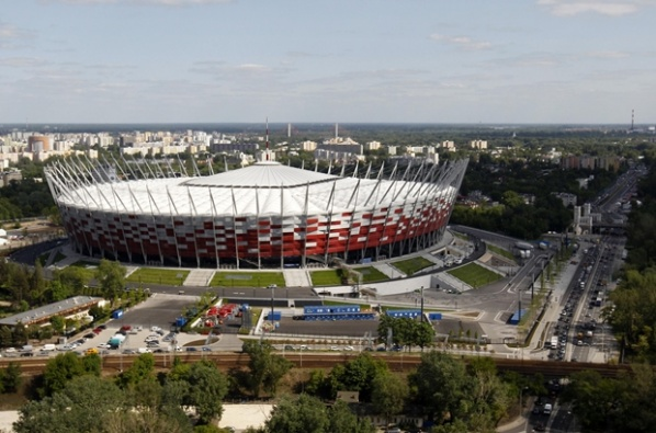 Constructors will block the National Stadium in Warsaw for the opening of Euro 2012