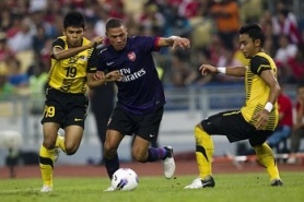 Arsenal with a late turnaround against the team of Malaysia
