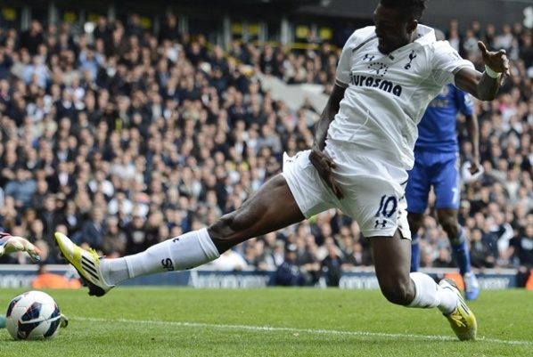 Virus sidelined Adebayor from the Tottenham match against Norwich