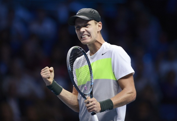 Tomas Berdych reached the first victory in the final tournament of the ATP