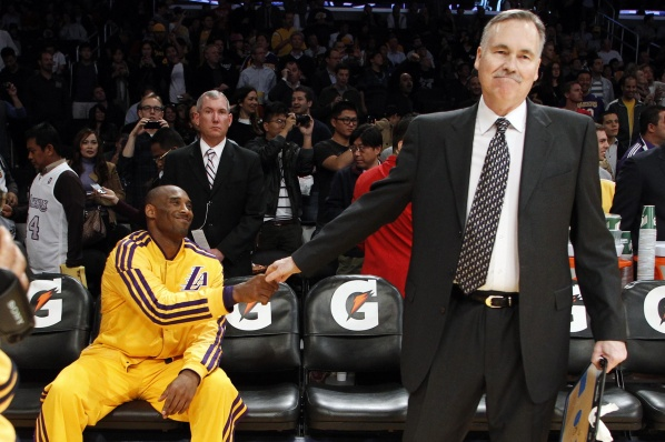 Kobe and company brought victory to Mike D'Anthony in his debut