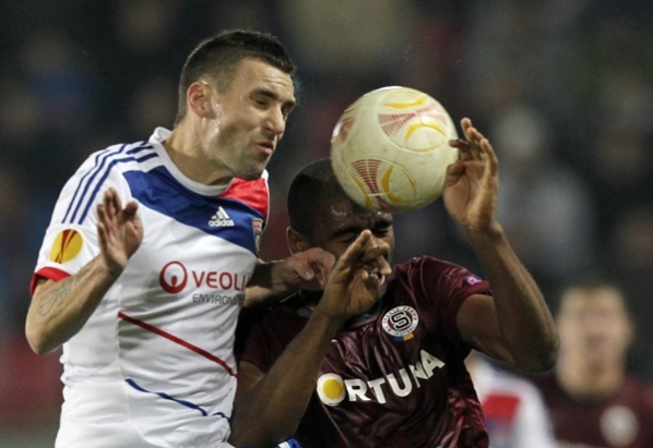 Lyon lost first point in the Europa League