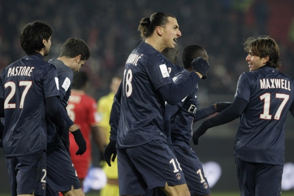 PSG defeated Valenciennes, Ibrahimovic score 3