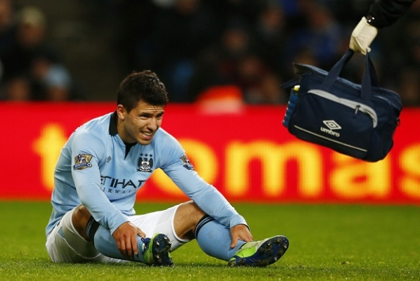 Aguero questionable for the clash with Arsenal
