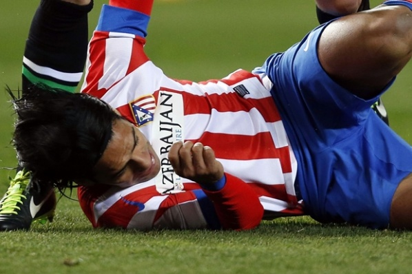Atletico Madrid lost Falcao for three weeks