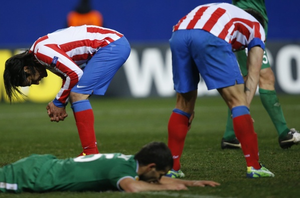Atletico gave up the title in the Europa League, Rubin eliminate the Spaniards
