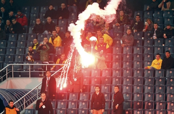 Despite the ban, Fenerbahce fans watched their team at the stadium