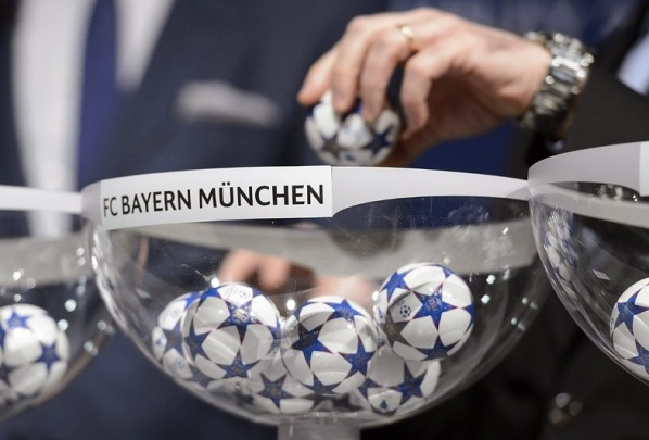 The draw for the top 8 in the Champions League
