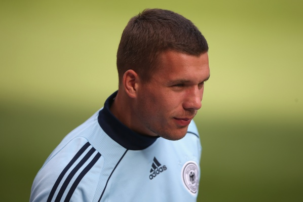Podolski before surprisingly transfer to Schalke