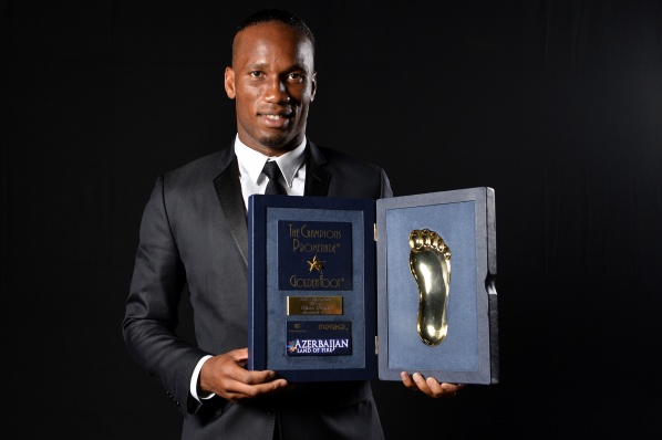 Didier Drogba won the Golden Foot 2013