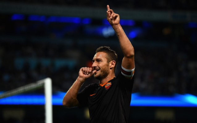 A message of Man City on Twitter inspired Totti to score