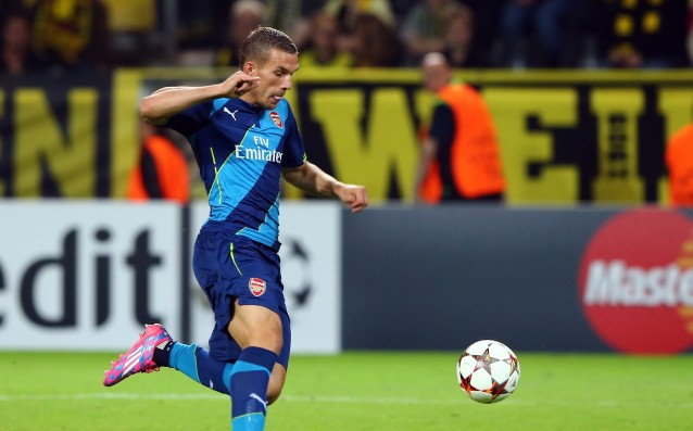 Podolski has hinted that he leaves Arsenal