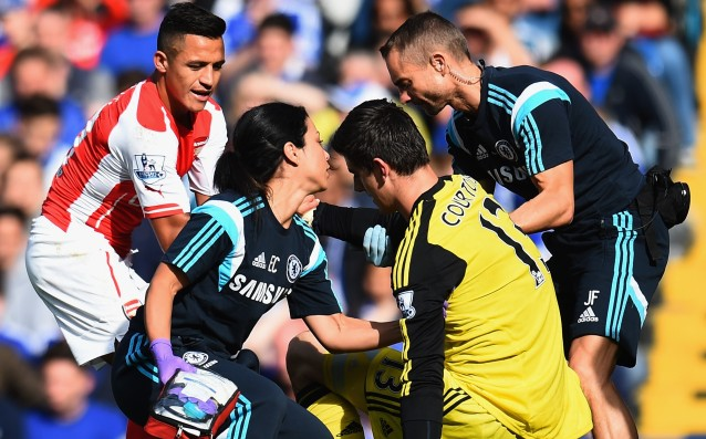 Courtois: At the beginning I felt normal, but then I began to see dimly, and from my ear bleed