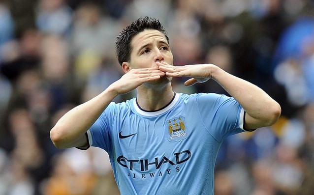 Samir Nasri is back for the Manchester derby