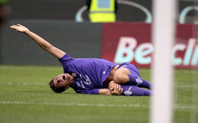 Mario Gomez is back in action for Fiorentina