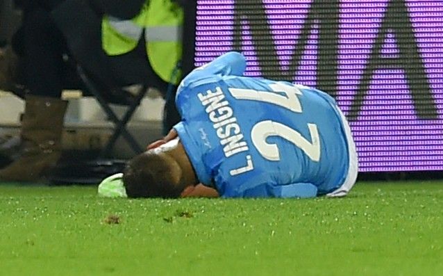 The knee of Insinie bothers Napoli
