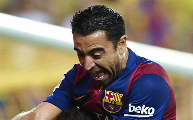 Xavi equalized Giggs