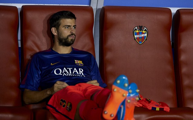 Barca will be without Pique for the match against Granada