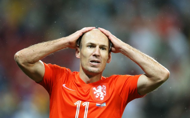 Robben missed the crucial qualifier with Turkey