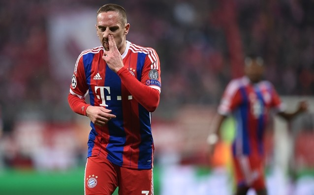 Ribery is finally out vs. Borussia