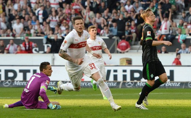 Ten players of Stuttgart showed temper and hit Werder