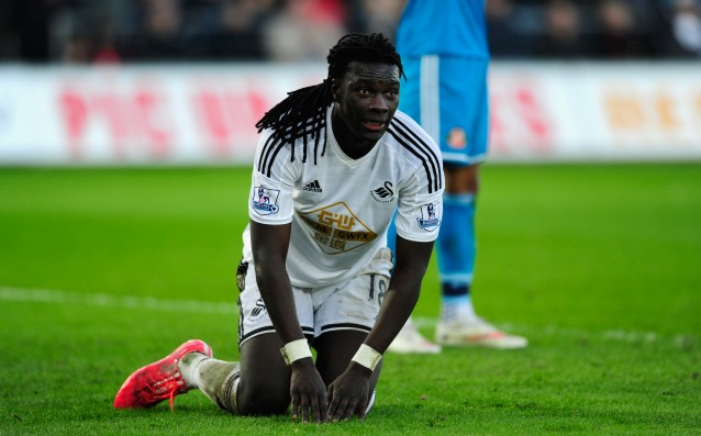 Swansea remained without Gomis until the end of the season