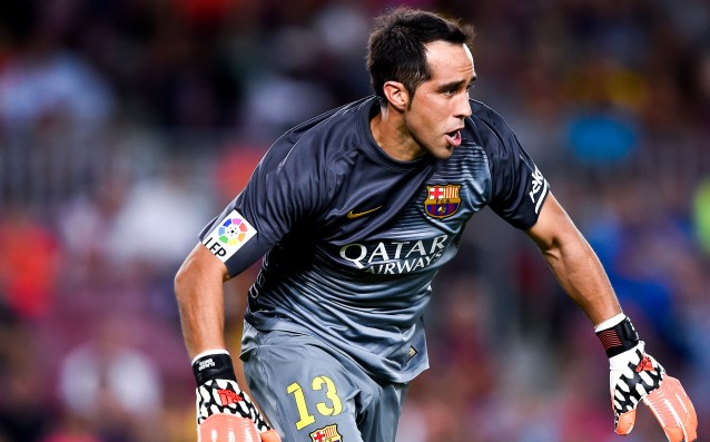 Claudio Bravo did not celebrate with Barca and left for Chile