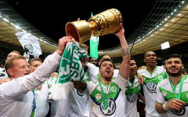 Wolfsburg started defending the Cup in Germany in Stuttgart
