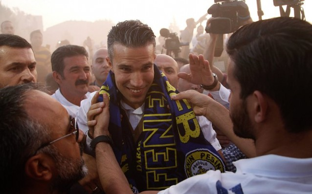 Van Persie took his farewell to English football