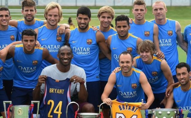 Kobe Bryant visited the camp of Barca