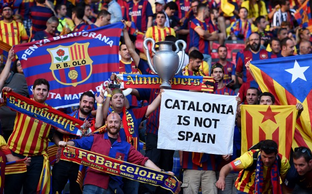 Barca met Platini because of the Catalan flags