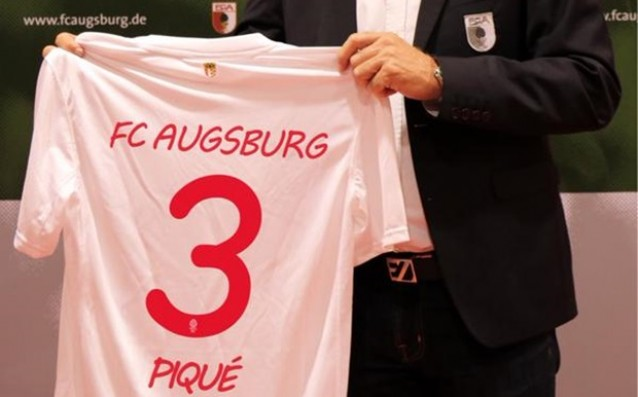 Augsburg 'attracted' Gerard Pique for gratitude