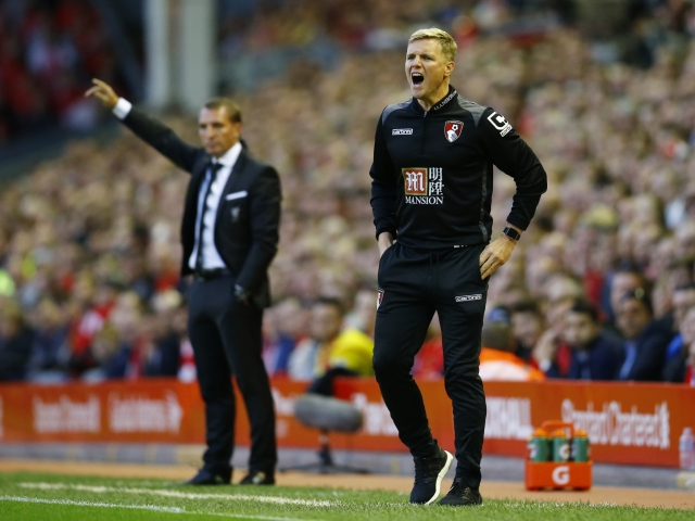 The Bournemouth manager is angry at the referee