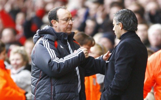 Benitez started as Mourinho at the helm of Real Madrid