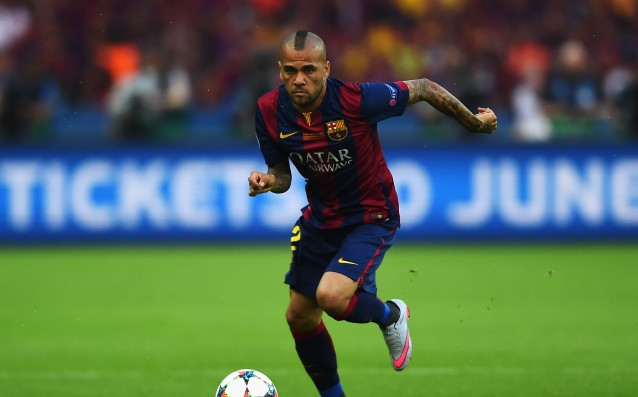 Dani Alves may be ready to play against Atletico Madrid