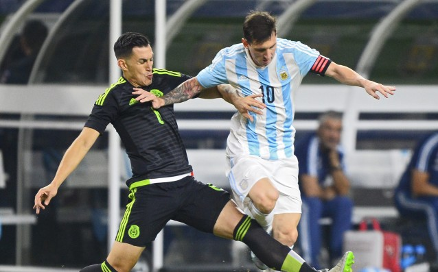 Messi and Aguero rescued Argentina from a loss against Mexico