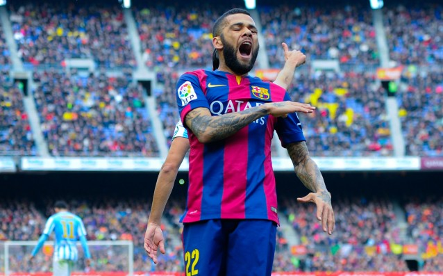 Alves is the foreign player with most matches for Barca