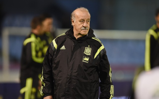 Del Bosque made three changes in the team of Spain
