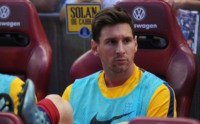 Shock for Barca: Messi will be out for El Classico.