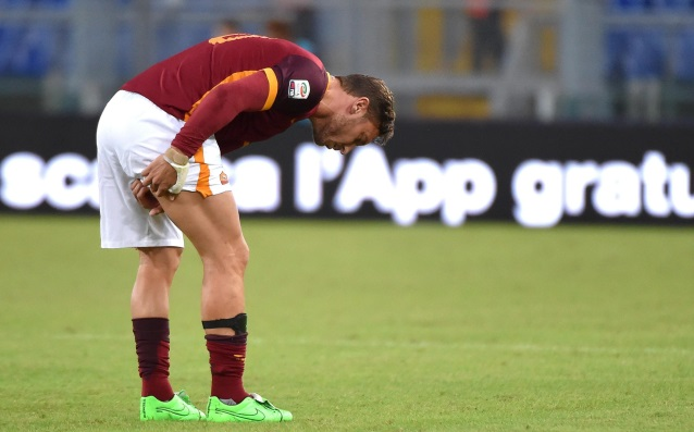 Totti is missing the Rome derby