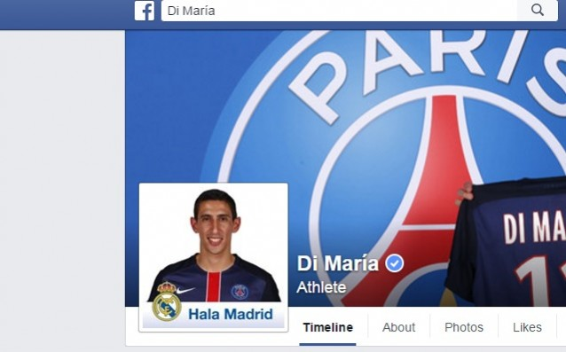 Di Maria supports Real Madrid