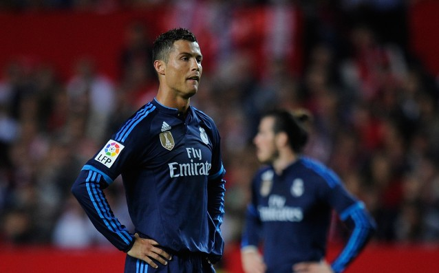 Ronaldo has scored only by a penalty against Barca at the Bernabeu